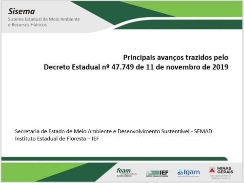 Quadro Comparativo do Decreto 47.749/2019