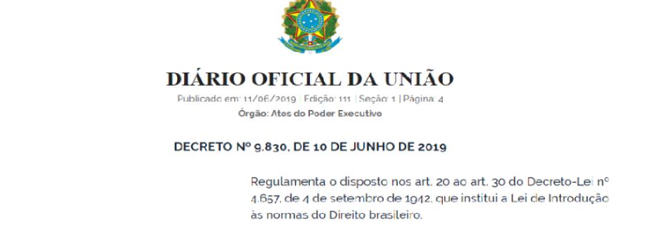 Publicado Decreto que regulamenta Lei da Segurança Jurídica