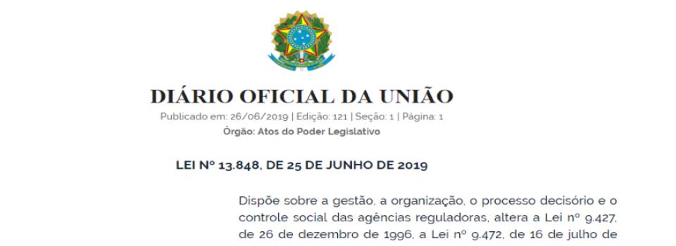 Presidente sanciona marco legal das Agências Reguladoras