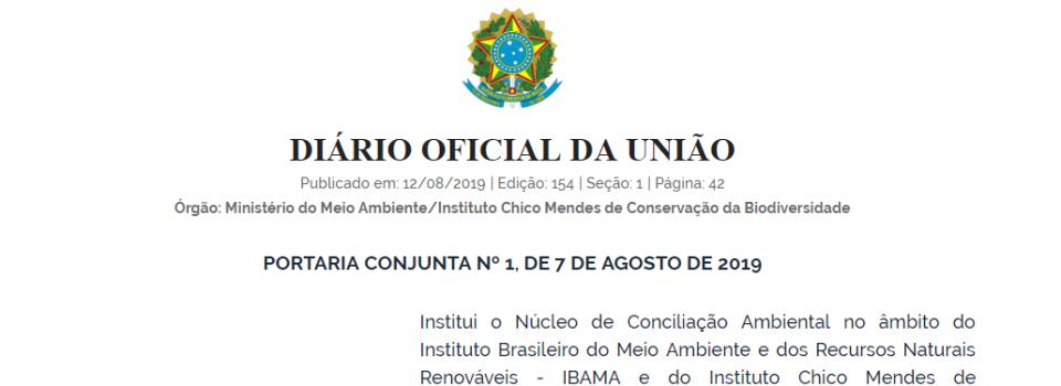 Instituído o Núcleo de Conciliação Ambiental