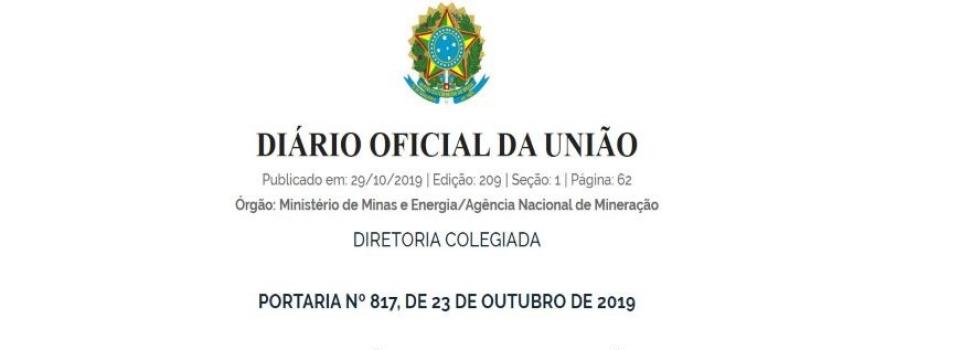 ANM publica Portaria que dispõe sobre ocupação de cargos