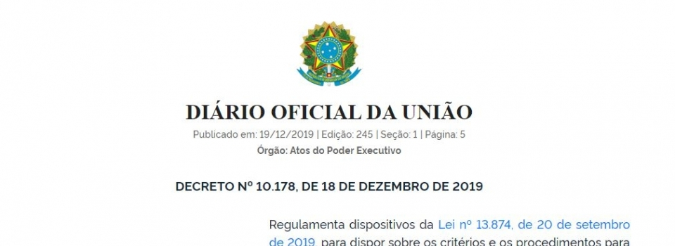 Publicado decreto que dispõe sobre a classificação de risco de atividades