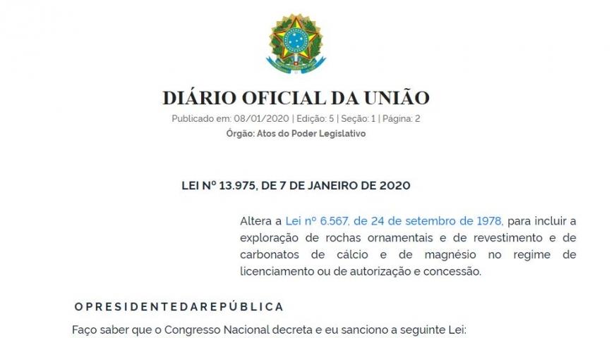 Exploração de novas substâncias minerais no regime de licenciamento