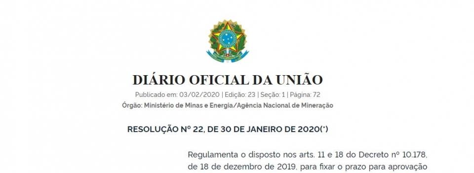 Resolução fixa prazo máximo para aprovação tácita dos atos públicos sob competência da ANM