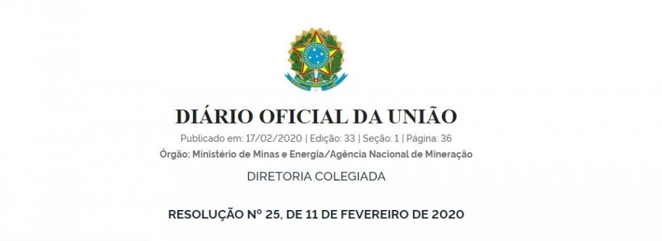 Nova Resolução da Agência Nacional de Mineração