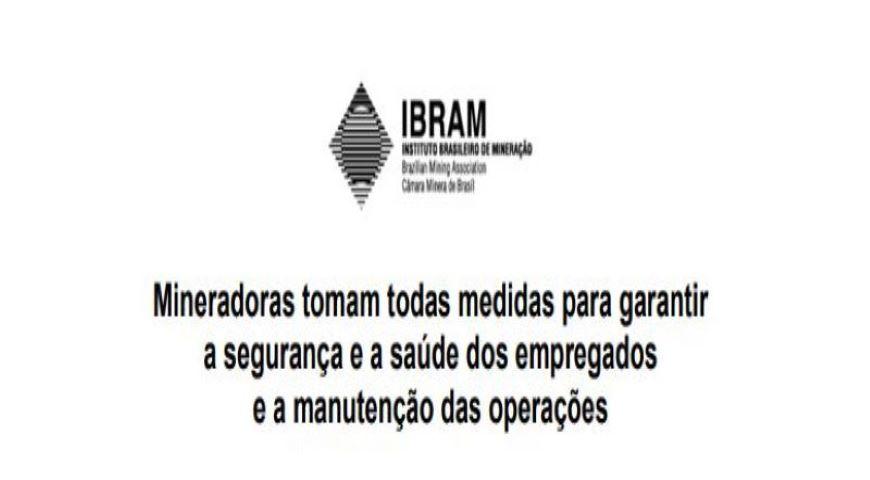 IBRAM publica posicionamento referente à pandemia do COVID-19 e funcionamento do setor minerário