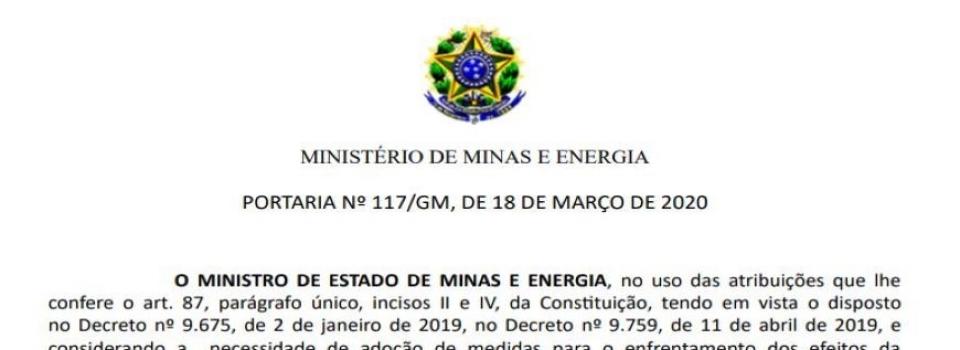 MME institui Comitê de Crise em reação à pandemia do COVID-19