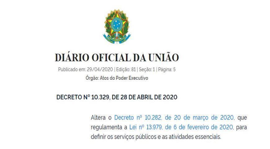 Novo Decreto inclui atividade de mineração como essencial