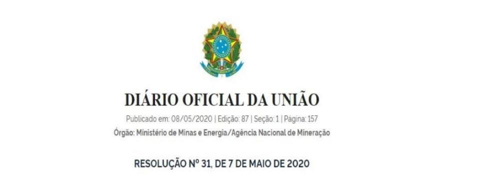 Nova Resolução ANM publicada para delegar competências