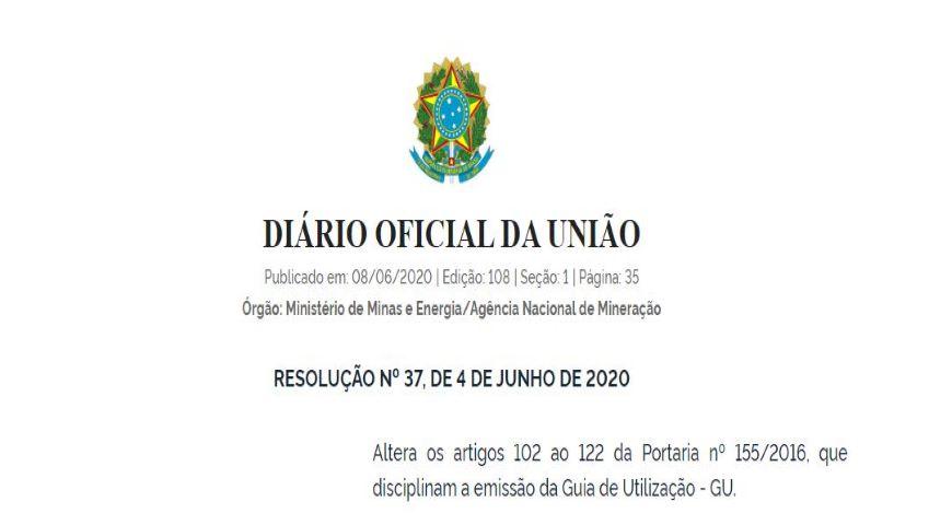 Nova Resolução ANM disciplina a emissão da Guia de Utilização